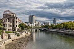 Hirsoshima (21mapple) Tags: hiroshima japan japanese nuclear bomb dome building river park peace peacepark