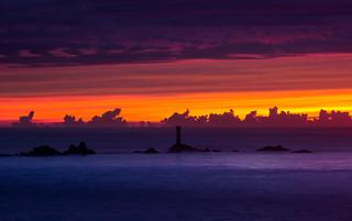 Longships sunset