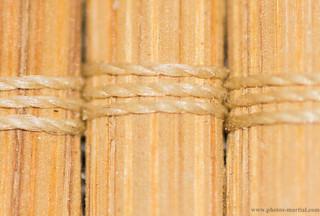 Tapis de bambous