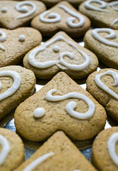 gingerbread hearts (sean and nina) Tags: gingerbread hearts cookies christmas food sweet honey cake