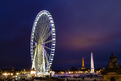 Paris Big wheel, Eiffel Tower, Obelisque (arnaud_martinez) Tags: city cityscape eiffel elysees france illuminated light night obelisque outdoors paris sky street arc arch arched architecture bigwheel bridge building bulbs cars champs christmas de evening flow iron lady landmark lighthouse monument nobody old show skyline tower traffic travel triomphe urban