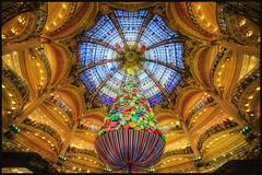 Joyeux Noel/Merry Christmas (∃Scape) Tags: noel christmas paris france arbre tree decoration holiday gallerie lafayette light lumieres hdr interior interieur