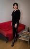 Black Velvet (blackietv) Tags: black velvet velour dress gown long party tgirl transvestite crossdresser crossdressing transgender