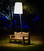 nature is either going to sleep or waking up (Maureen Bond) Tags: ca maureenbond descansogardens evening night forrest enchantedforrest lamp light bench trees