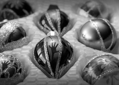 Holiday's End (EJMphoto) Tags: christmas holiday ornament reflection hand blackwhite