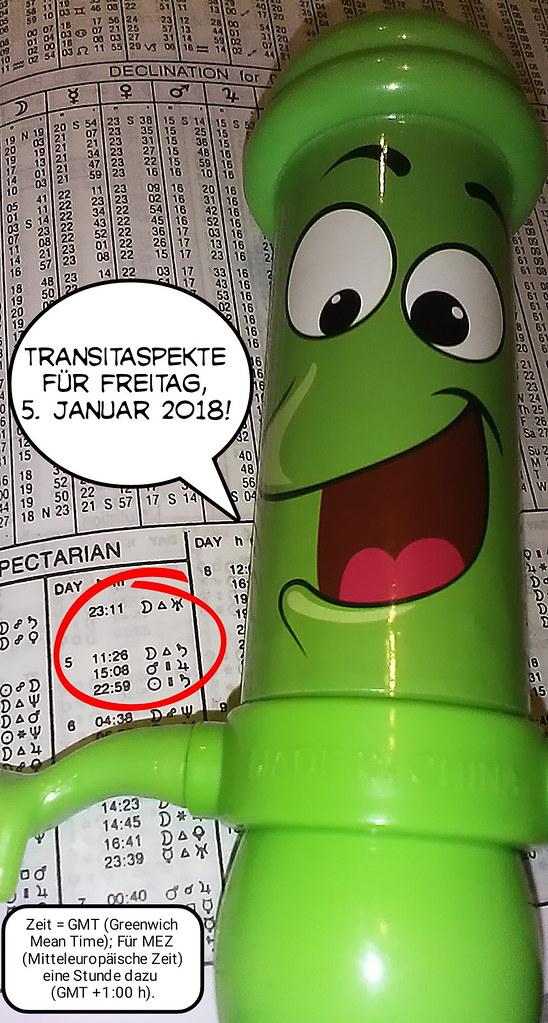 Ephemeriden für Freitag, 05.01.2018