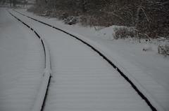 snowy tracks (yumievriwan) Tags: tracks railroad bethlehempa snow pennsylvania