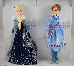 2017 Elsa and Anna Limited Edition 17 Inch Dolls - Olaf's Frozen Adventure - Disney Store Purchase - Covers Off - Side By Side - Front View (drj1828) Tags: disneystore limitededition doll 17inch frozen olafsfrozenadventure collectible 2017 anna elsa boxed purchase