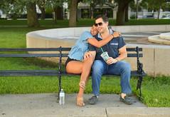 Happy embrace (radargeek) Tags: charleston sc southcarolina 2017 august couple whitepointgarden thebattery sunglasses sandals hugs embrace