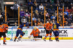 "Kansas City Mavericks vs. Colorado Eagles, December 16, 2017, Silverstein Eye Centers Arena, Independence, Missouri.  Photo: © John Howe / Howe Creative Photography, all rights reserved 2017. • <a style=""font-size:0.8em;"" href=""http://www.flickr.com/photos/134016632@N02/25271501308/"" target=""_blank"">View on Flickr</a>"