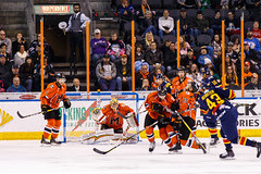 "Kansas City Mavericks vs. Colorado Eagles, December 16, 2017, Silverstein Eye Centers Arena, Independence, Missouri.  Photo: © John Howe / Howe Creative Photography, all rights reserved 2017. • <a style=""font-size:0.8em;"" href=""http://www.flickr.com/photos/134016632@N02/25271501758/"" target=""_blank"">View on Flickr</a>"
