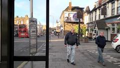 Croydon Road, Penge, south London SE20 (Paul-M-Wright) Tags: croydon road penge south london street photography les wright leslie working class men se20 bus stop shelter