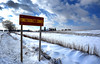 Punkeydoodle's Corners (Poocher7) Tags: punkeydoodlescorner newhamburg ontario canada snow sign clouds bluesky rural farm silo countryside fence snowfence field snowcovered