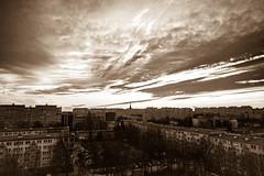 Sunset from the window (pasiak75) Tags: 2017 sigma12244556 wroclaw clouds color kolor krajobraz landscape okno sky sun sunset słońce windows winter zima