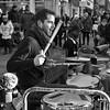 iDrum, performing in Canterbury (chrisjohnbeckett) Tags: idrum drums drumming percussion rhythm portrait drumkit square monochrome bw blackandwhite street urban performer drummer chrisbeckett canterbury fujifilmx100f photojournalism global documentary