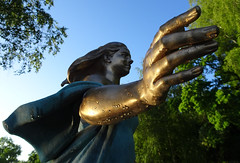 Woman... Rain love upon her ☺ (crush777roxx) Tags: crush777roxx crush 20160703 2016 july 3rd compact camera sony hx90v sweden stockholm djurgården summer statue woman peace work peter linde staty kvinnan freds fredsarbetet scandinavia nordic sunrise raindrops rain drops glisten love honor women trees share kindness 31821198 sharethekindness womanofpeacework kvinnanifredsarbetet statueofwoman rainloveuponher peterlinde internationalwomensday honorwomen stockholmsweden compactcamera sonyhx90v