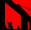 Saturday Night's Alright............. (yamstar1) Tags: digitalart pulpfiction train fight viaduct camp redandblack