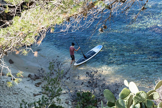 Paddle in mediterraen sea
