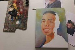 Time to make some more progress on this one #oiloncanvas #oils #portrait #layers #christmas #commission #painting (Tony Nero) Tags: artoftonynero tony nero art peterorough cambridgeshire creative out about craft paintings