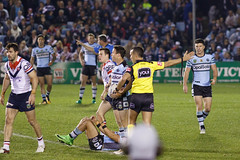 Sharks v Roosters Round 26 2017_155.jpg (alzak) Tags: 2017 australia cecchin city cronulla league matt nrl roosters rugby sharks sydney action awarded penalty sport sports