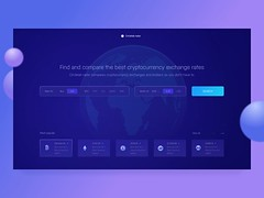 Cryptocurrency Exchange Rate Comparison Service (inspiration_de) Tags: bitcoin blockchaine cryptocbrrency ether ico investment litecoin token ui ux web webdesign zajno