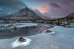 River Etive (raymond_carruthers) Tags: landscapephotography highlands scottishlandscapephotography landscape sunrisecolours buachailleetivemòr scotland winter riveretive glencoe argyllbute mountains frost frozen river sunrise clouds
