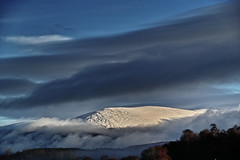 Rising from the cloud to greet 2018 (Fr Paul Hackett) Tags: mountain sky clouds sunshine snow trees cairngorm