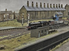 Freight Train Arriving at King Cross, Halifax. (ManOfYorkshire) Tags: kingcross halifax westyorkshire scale model railway layout 176 oogauge p4 freight train steam locomotive 61189