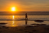 A December Sunset (Jill Clardy) Tags: 201712284b4a7254 pismo beach ocean water sea sun sunset waves surf silhouette walker woman winter pacific ca california centralcoast central coast