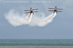 3431 Wingwalkers (photozone72) Tags: eastbourne airshows aircraft airshow aviation breitlingwingwalkers breitling wingwalkers boeing stearman biplane canon canon7dmk2 canon100400f4556lii 7dmk2