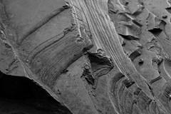 Rock Formation Macro (hanley.will) Tags: contrast exposure rock macro nature natural formation dukegardens sarahpdukegardens durham dukeuniversity blackandwhite black gray gradient erosion cut shadow lines shade grayscale