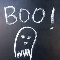Boo! (earthdog) Tags: 2017 canon powershot elph170is canonpowershotelph170is word ghost chalk blackboard chalkboard drawing text