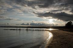 Quiet Shore D7C_5411.Explored (iloleo) Tags: sun dominionbay manitoulinisland ontario summer nature lakehuron beach landscape nikon d750 clouds