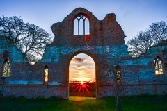 suntrap (Paul Wrights Reserved) Tags: wimpole royston hertfordshire folly ruin building old historic castle trees sunset sunlight evening doorway gateway light sky landscape skyscape