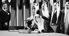Yoda with King Faisal. Classic. This is my favorite photoshop story of 2017.  http://www.bbc.com/news/world-middle-east-41363156 (Howdy, I'm H. Michael Karshis) Tags: wow proof starwars 1945 yoda lazy saudi uhoh funny mistake textbook shaweesh photoshop bestof2017