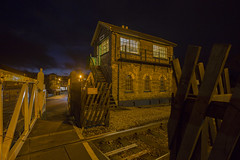 Bedale at Night (georgehuthart) Tags: bedale signalbox railways rail britishrail nightshot nightshooters lowlightphotography eos5d canonlens canonimage