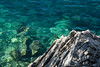 Blue and Green (hippyczich) Tags: sea clear rocks ithaca greece