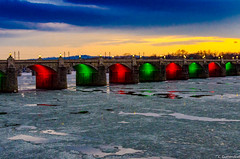 Even the bridges get festive (charlie_guttendorf) Tags: bridge guttendorf harrisburg nikon nikon18200mm nikond7000 susquehannariver uncoveringpa centralpa christmas christmaslights ice outdoorphotography outdoors outside scenic susquehanna winter