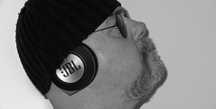 Hats and headphones. . . (CWhatPhotos) Tags: self selfie me hat wool shades sun sunglasses round steam punk glasses tattoo tattoed man male think bw mono monochrome photographs photograph pics pictures pic picture image images foto fotos photography artistic cwhatphotos that have which with contain olympus digital camera lens em5 mkii micro portrait inked tatts tribal chest tattoos