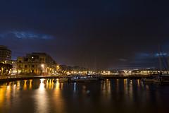 Puerto deportivo. Gijón. (David A.L.) Tags: asturias asturies gijón puertodeportivo noche nocturna agua puerto