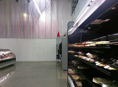 Peeking into the new fresh island area (l_dawg2000) Tags: 2017remodel apparel café desotocounty electronics food gasstation meats mississippi ms pharmacy photocenter remodel samsclub southaven tires walmart wholesaleclub unitedstates usa