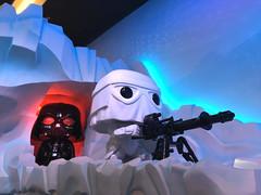 Vader and Snowtrooper (knoopie) Tags: 2017 december iphone picturemail everett funko funkohq darthvader snowtrooper starwars stormtrooper