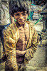 living in the gritty real world (Pejasar) Tags: beggar dalit caste oppressed poverty poor child dirty clothes ragged smile appreciation momentary portrait realworld grime street candid boy painterly paintcreations thin olddelhi india