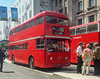 The Best London Bus Ever Made (M C Smith) Tags: routemaster frm1 london numbers letters symbols banners green bus buses kerb blockpaving sky blue red