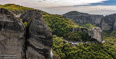 LIVIN' ON THE EDGE #3 (Michael Leshets) Tags: trees sky landscape forest mountains travel architecture rocks green monastery cliff cliffs mone greece meteora