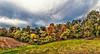 IMG_0835-36Ptzl1scTBbLGER2 (ultravivid imaging) Tags: ultravividimaging ultra vivid imaging ultravivid colorful canon canon5dmk2 clouds fields farm autumn fall autumncolors panoramic pennsylvania pa painterly landscape evening twilight trees scenic sky