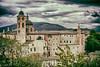 Palazzo Ducale di Urbino (Prex06) Tags: italia italy italianrenaissance urbino marche castle clouds sky oldages warmcolors hdr europe europa nikon d610