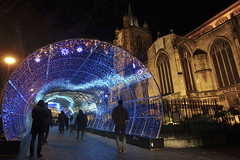 Norwich festive light tunnel [350/365 2017] (_ _steven.kemp_ _) Tags: norwich christmas lights church tunnel festive light dark st peter mancroft
