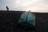 disillusioning boot (zoomseb) Tags: green boot broken burst geborsten evening kaputt loch hole photograph windy windig breezy blowy girlfriend beach stones steine strand cotillo fischerboot gestrandet aground