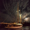 Moonrise at English Harbour (Jon Bowles) Tags: night lowlight boat clouds lights antigua harbour mast sony panorama vertirama a7s sonya7s landscape nightscape color